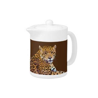Spotted Jaguar Big Cat-lover #Gift Teapot