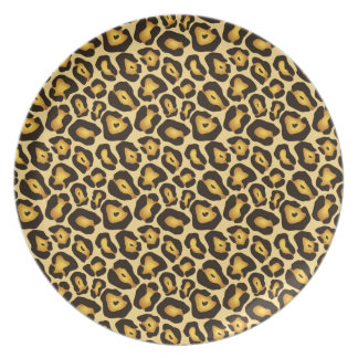 Spotted Jaguar Camouflage Pattern Dinner Plate