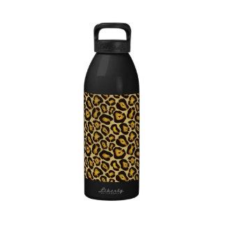 Spotted Jaguar Camouflage Pattern Reusable Water Bottle