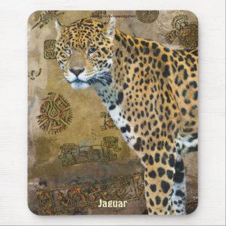 Spotted Jaguar & Caracol Temple Art Mousepad