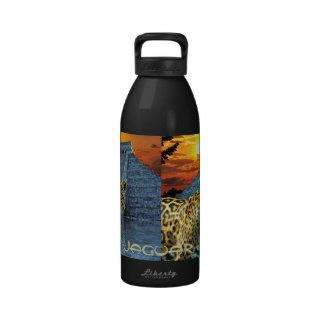 Spotted Jaguar, Chichen Itza Wildlife Water Bottle