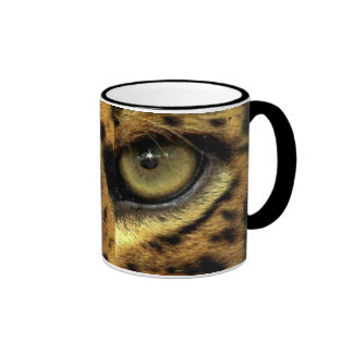 Spotted Jaguar Eye Big Cat Wildlife Ringer Coffee Mug