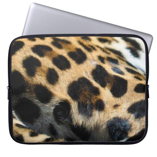 Spotted Jaguar Fur-look Big Cat Laptop Sleeve
