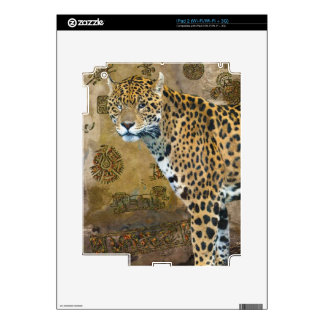Spotted Jaguar & Mayan Temple Wildlife Skin Decals For The iPad 2