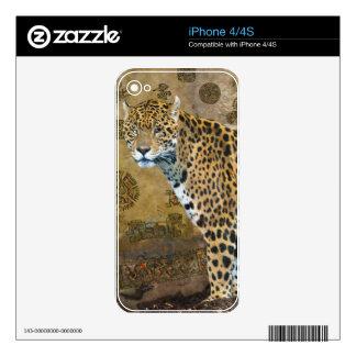 Spotted Jaguar & Mayan Temple Wildlife Skin iPhone 4S Skin