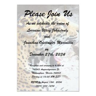 Spotted Jaguar painted image Card