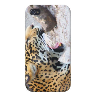 Spotted Jaguar painted image Cover For iPhone 4
