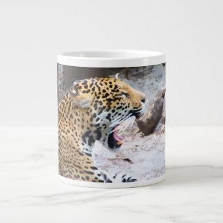 Spotted Jaguar painted image Large Coffee Mug