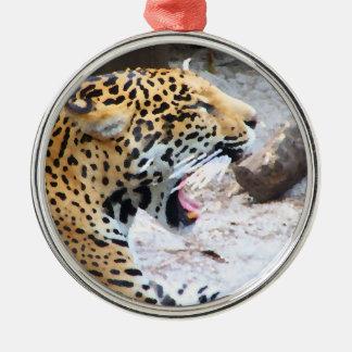 Spotted Jaguar painted image Christmas Ornament