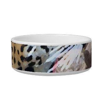 Spotted Jaguar painted image Pet Bowl