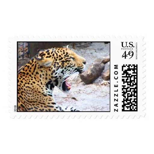 Spotted Jaguar painted image Stamps
