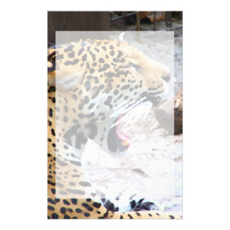 Spotted Jaguar painted image Stationery