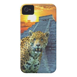 Spotted Jaguar Wildlife & Temple iPhone 4 Case