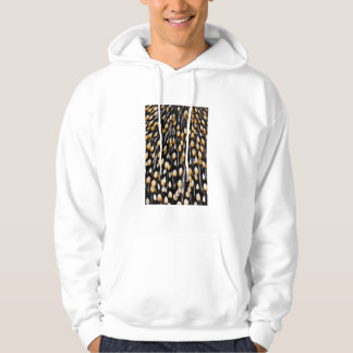Spotted jungle cock feathers hoodie