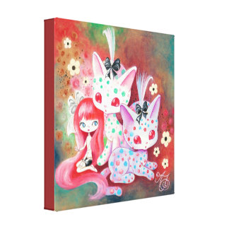 Spotted Kitties Canvas Print