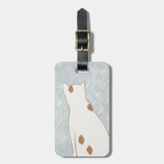 Spotted Kitty Cat Luggage Tag