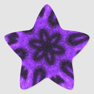 Spotted Lavender Leopard Kaleidoscope Star Sticker