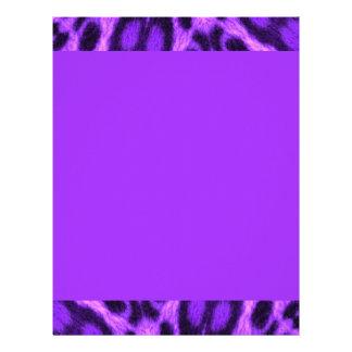 Spotted Lavender Leopard Letterhead