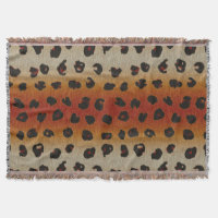 Spotted Leopard Animal Print Pattern Throw Blanket