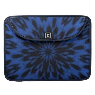 Spotted Leopard Blue Kaleidoscope MacBook Pro Sleeve