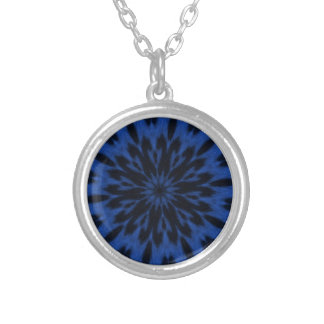 Spotted Leopard Blue Kaleidoscope Personalized Necklace