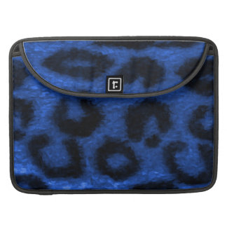 Spotted Leopard Blue Sleeve For MacBooks