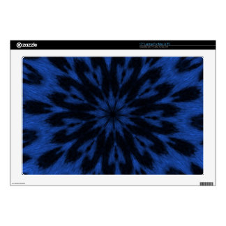 """Spotted Leopard Blue Wild Cat Kaleidoscope Decals For 17"""" Laptops"""