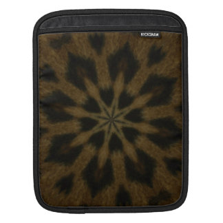 Spotted Leopard Brown Wild Cat Kaleidoscope iPad Sleeves