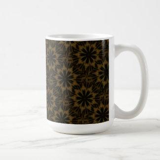 Spotted Leopard Flower Kaleidoscope Coffee Mug