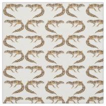 Spotted Leopard Gecko Lizard Fabric