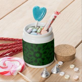 Spotted Leopard Green Kaleidoscope Candy Jars