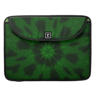 Spotted Leopard Green Kaleidoscope MacBook Pro Sleeves