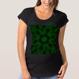 Spotted Leopard Green Kaleidoscope Maternity T-Shirt