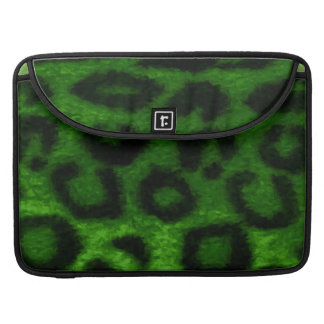 Spotted Leopard Green Wild Cat Sleeve For MacBook Pro