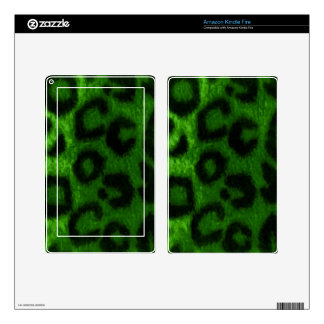 Spotted Leopard Green Wild Cat Skins For Kindle Fire