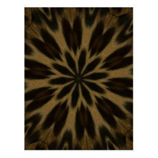 Spotted Leopard Kaleidoscope Postcard