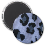 Spotted leopard pattern, grey white and black fridge magnets