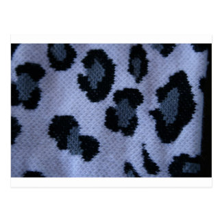 Spotted leopard pattern, grey white and black postcard