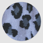 Spotted leopard pattern, grey white and black stickers