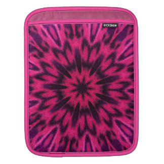 Spotted Leopard Pink Kaleidoscope Sleeve For iPads