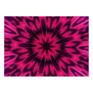 Spotted Leopard Pink Kaleidoscope Large Business Card