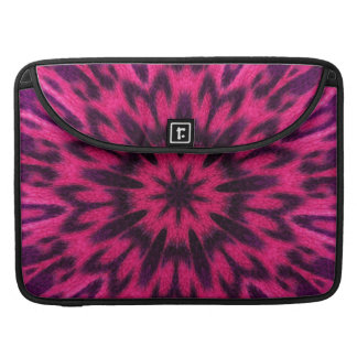 Spotted Leopard Pink Kaleidoscope Sleeve For MacBook Pro