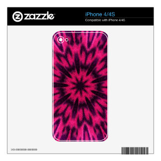 Spotted Leopard Pink Kaleidoscope Skin For The iPhone 4