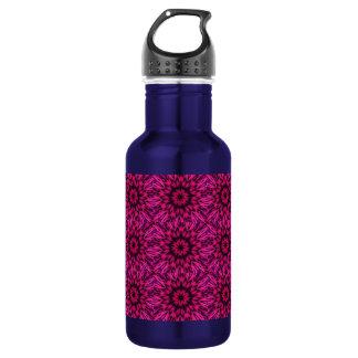 Spotted Leopard Pink Kaleidoscope Water Bottle