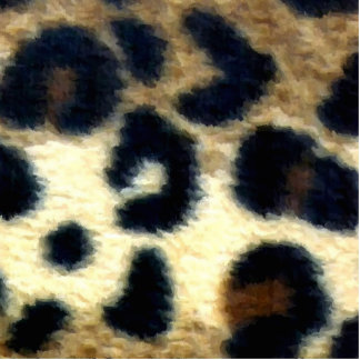 Spotted Leopard Print Statuette