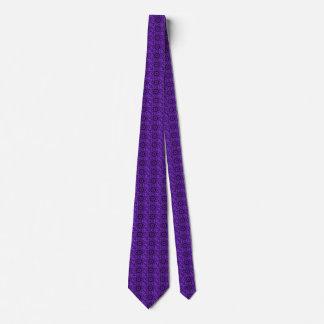 Spotted Leopard Purple Mandala Tie