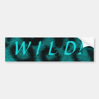 Spotted Leopard Teal Turquoise Car Bumper Sticker