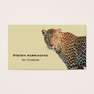 Spotted Leopard Wild Cat Photograph Business Card
