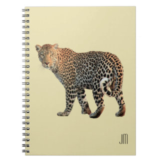 Spotted Leopard Wild Cat Photograph Notebook