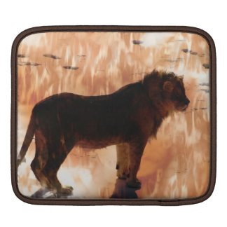 Spotted Lion African Wild Cat iPad Sleeve